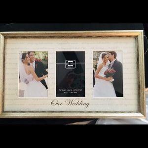 """Our wedding "" glass photo frame"
